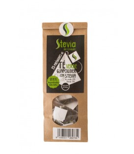 Green Gunpowder Tea Pyramid Tea Bags with Stevia