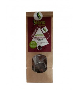 Apple-Raspberry Pyramid Tea Bags with Stevia